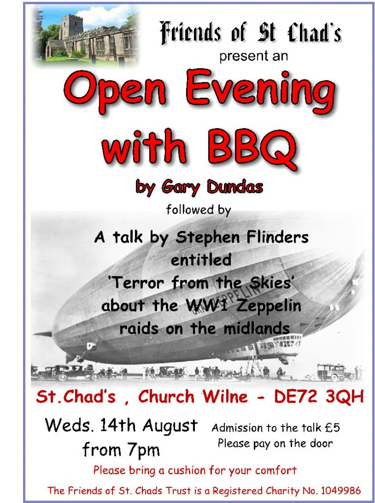 2019 Open evening bbq for Friends of St Chads