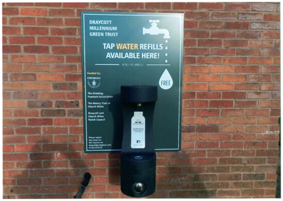 Water Fountain Photo and Signage